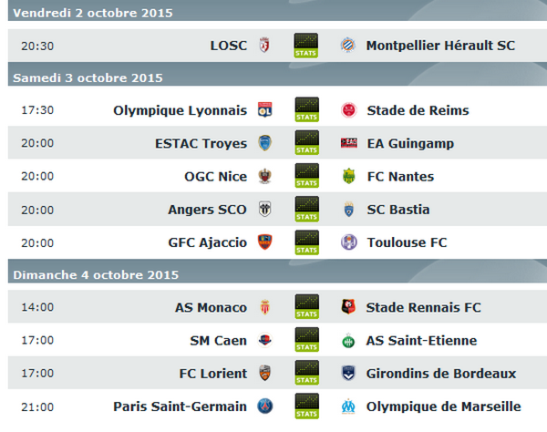 pronostic 9èms journée ligue 1 foot